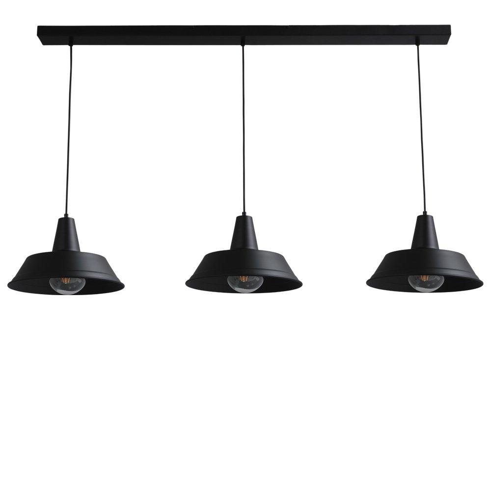Masterlight Zwarte vintage eetkamer lamp Industria 3x35 Masterlight 2546-05-130-3