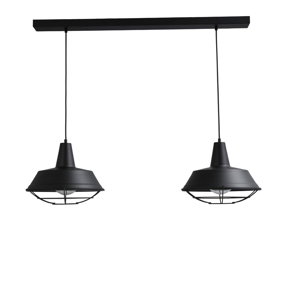 Masterlight Zwarte eettafellamp Industria 2x35 Masterlight 2546-05-C-100-2