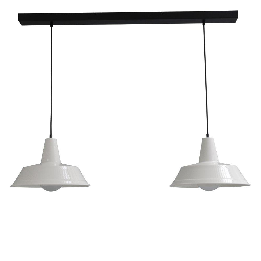 Masterlight Retro witte eettafellamp Industria 2x35 Masterlight 2546-06-100-2