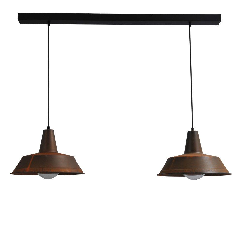 Masterlight Stoere roest eettafellamp Industria 2x35 Masterlight 2546-25-100-2