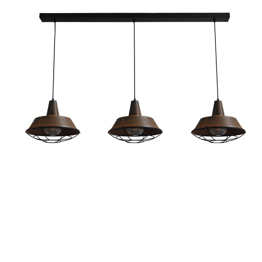 Stoere roest eetkamer lamp Industria 3x35 van Masterlight kopen ...