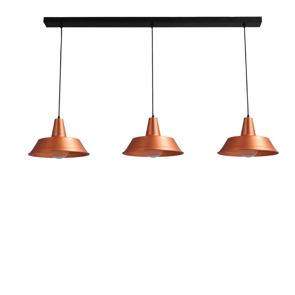 Masterlight Retro eetkamer lamp roodkoper Industria 3x35 Masterlight 2546-55-130-3