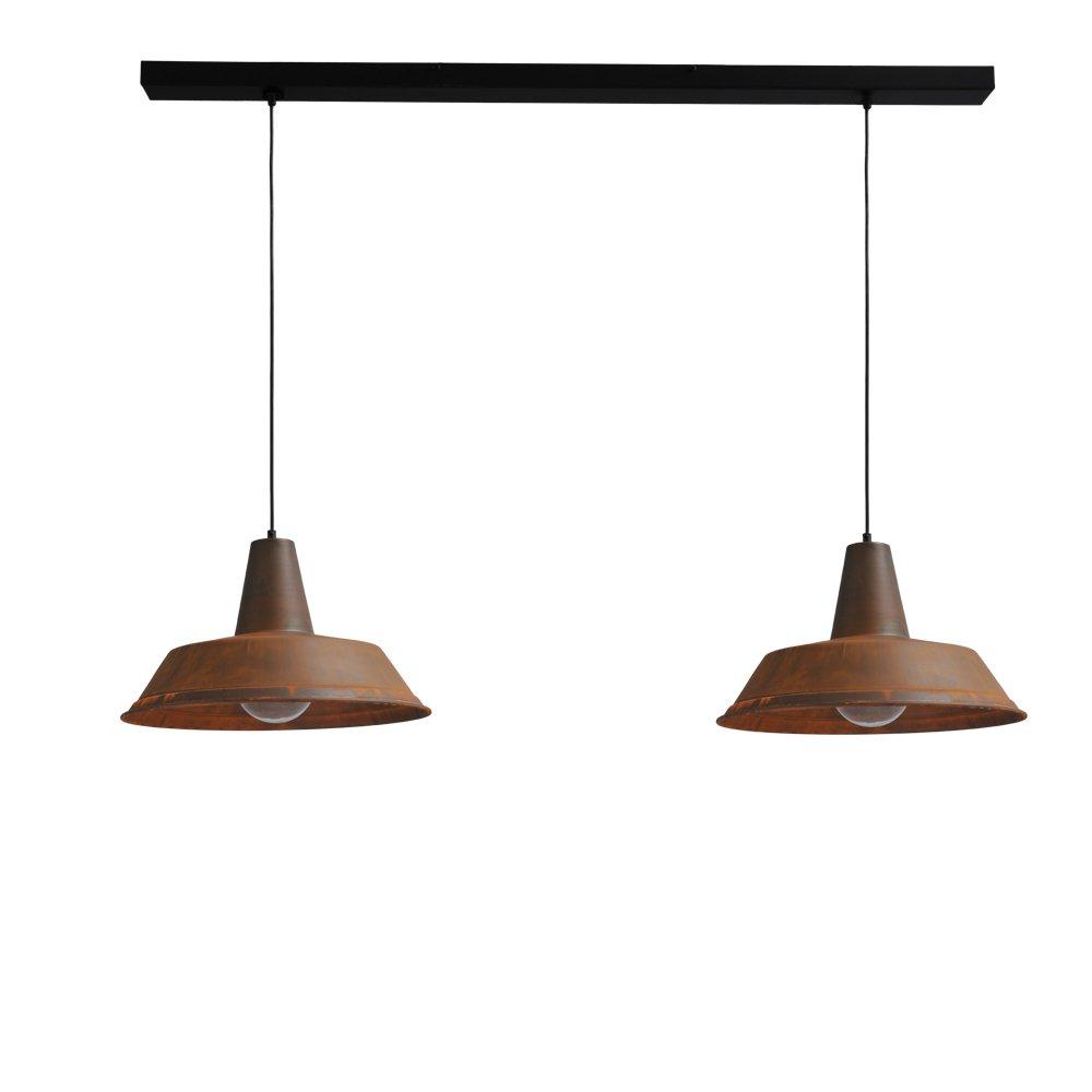 Masterlight Stoere eettafellamp roest Industria 2x45 Masterlight 2547-25-130-2