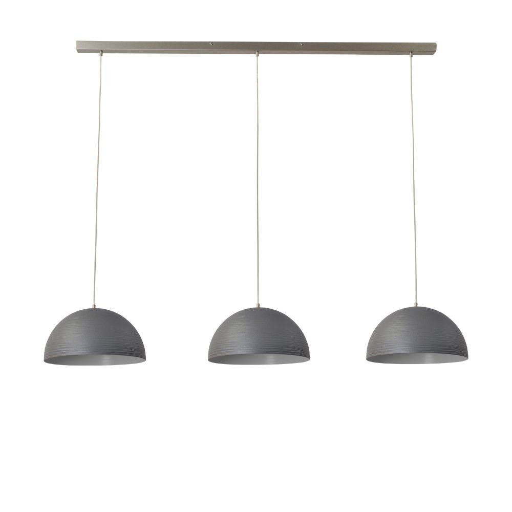 Masterlight Eetkamerlamp betongrijs Concepto 3x30 Masterlight 2730-00-130-3