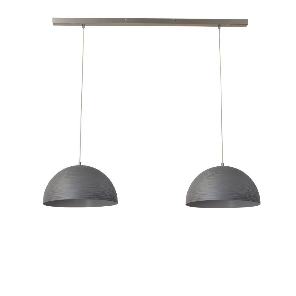 Masterlight Stoere eettafellamp betongrijs Concepto 2x30 Masterlight 2731-00-100-2