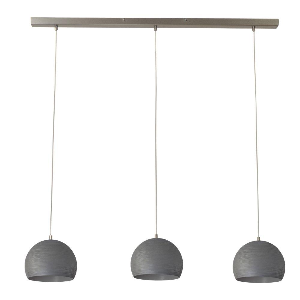 Masterlight Betongrijze eettafel hanglamp Concepto 3x20 Masterlight 2810-00-130-3