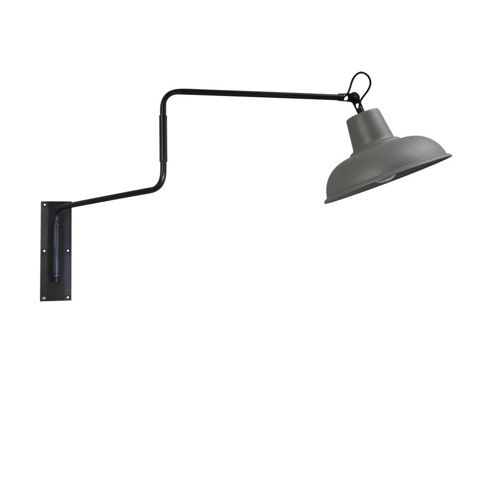 Masterlight Betongrijze wandleeslamp Industria 36 Masterlight 3046-30-00