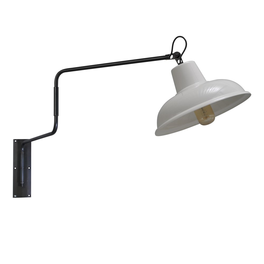 Masterlight Retro witte wandleeslamp Industria Masterlight 3046-30-06