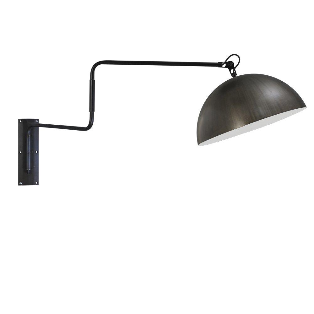 Masterlight Gunmetalen wandleeslamp Industria Masterlight 3198-30-06