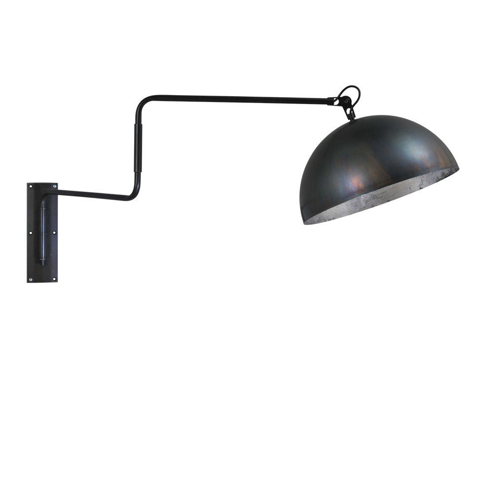 Masterlight Zwarte wandleeslamp Industria Silver Masterlight 3198-30-37