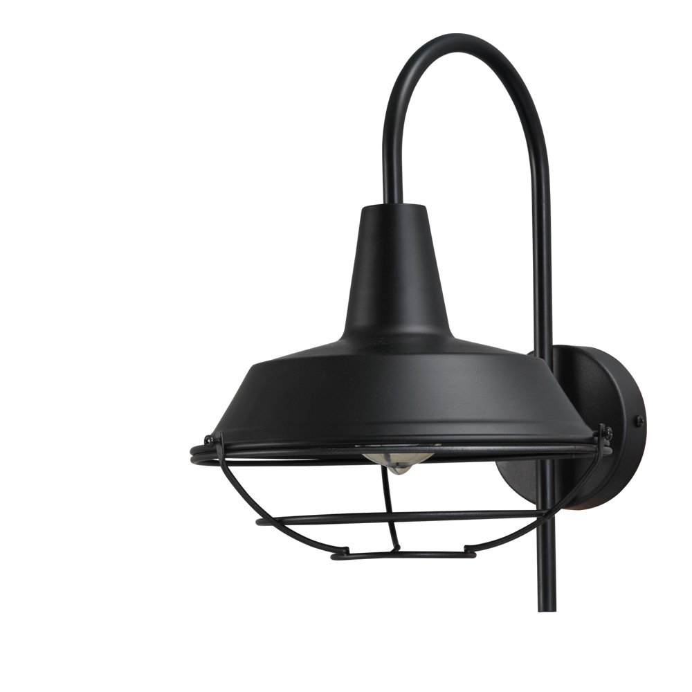 Masterlight Zwarte industrie muurlamp Industria Masterlight 3545-05-05-C