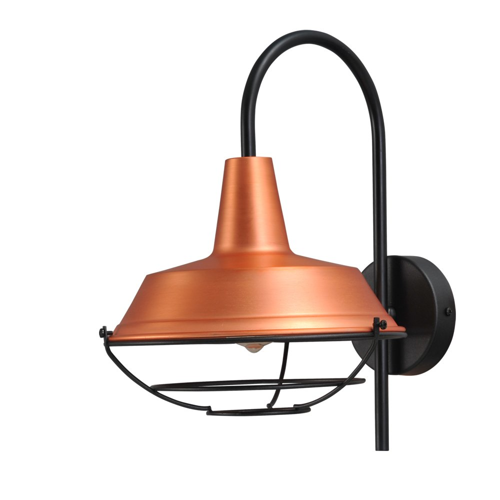 Masterlight Roodkoperen industrie muurlamp Industria Masterlight 3545-05-55-C