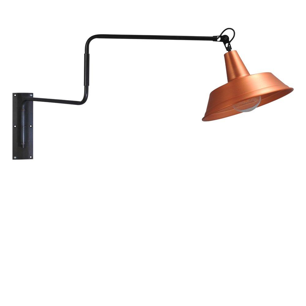 Masterlight Roodkoperen wandleeslamp Industria Masterlight 3546-30-55