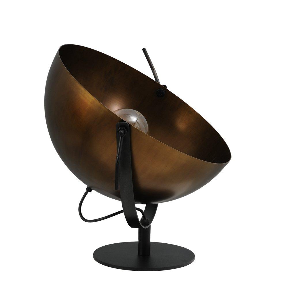 Masterlight Bronzen Industria Uplighter 40 Tafellamp Masterlight 4104-10-10
