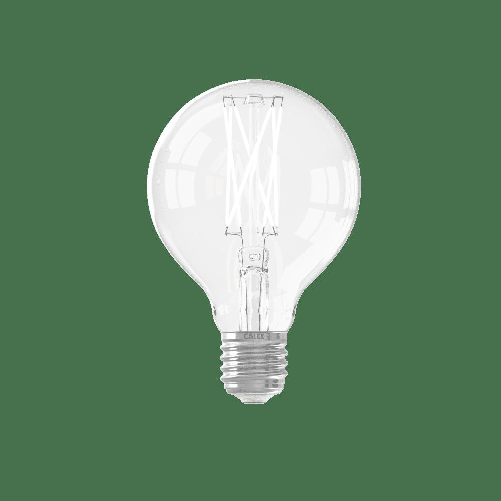 Calex globelamp LED filament 4W (vervangt 40W) grote fitting E27 helder 80mm