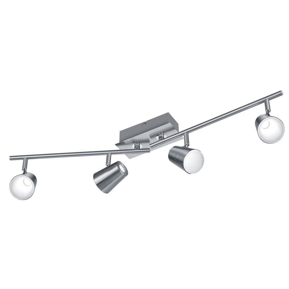 Trio international Richtbare plafondlamp Narcos nikkel Trio 873110407