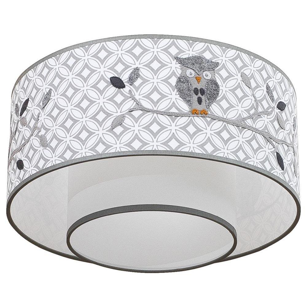 Taftan Plafondlamp Uiltje Grijs