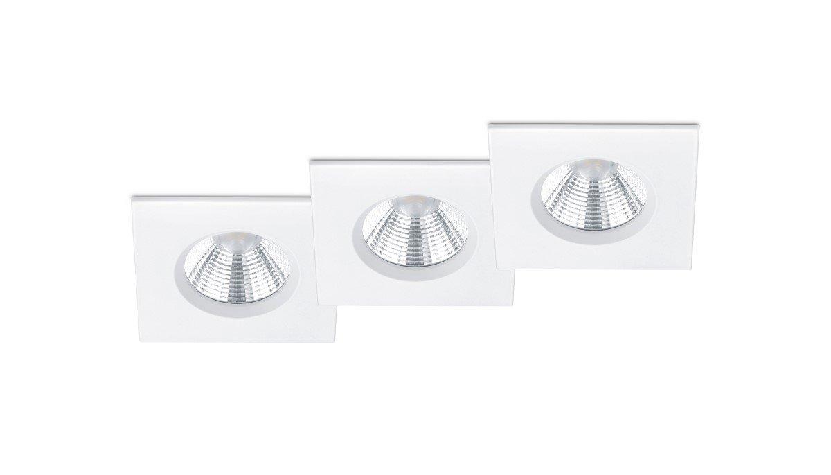 Trio international Badkamer inbouwspots Zagros (3x) met led Trio 650610331