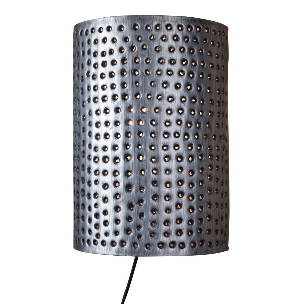 Urban Interiors Stoere wandlamp Spike zinkgrijs Ur. AI-WL-2133-Z