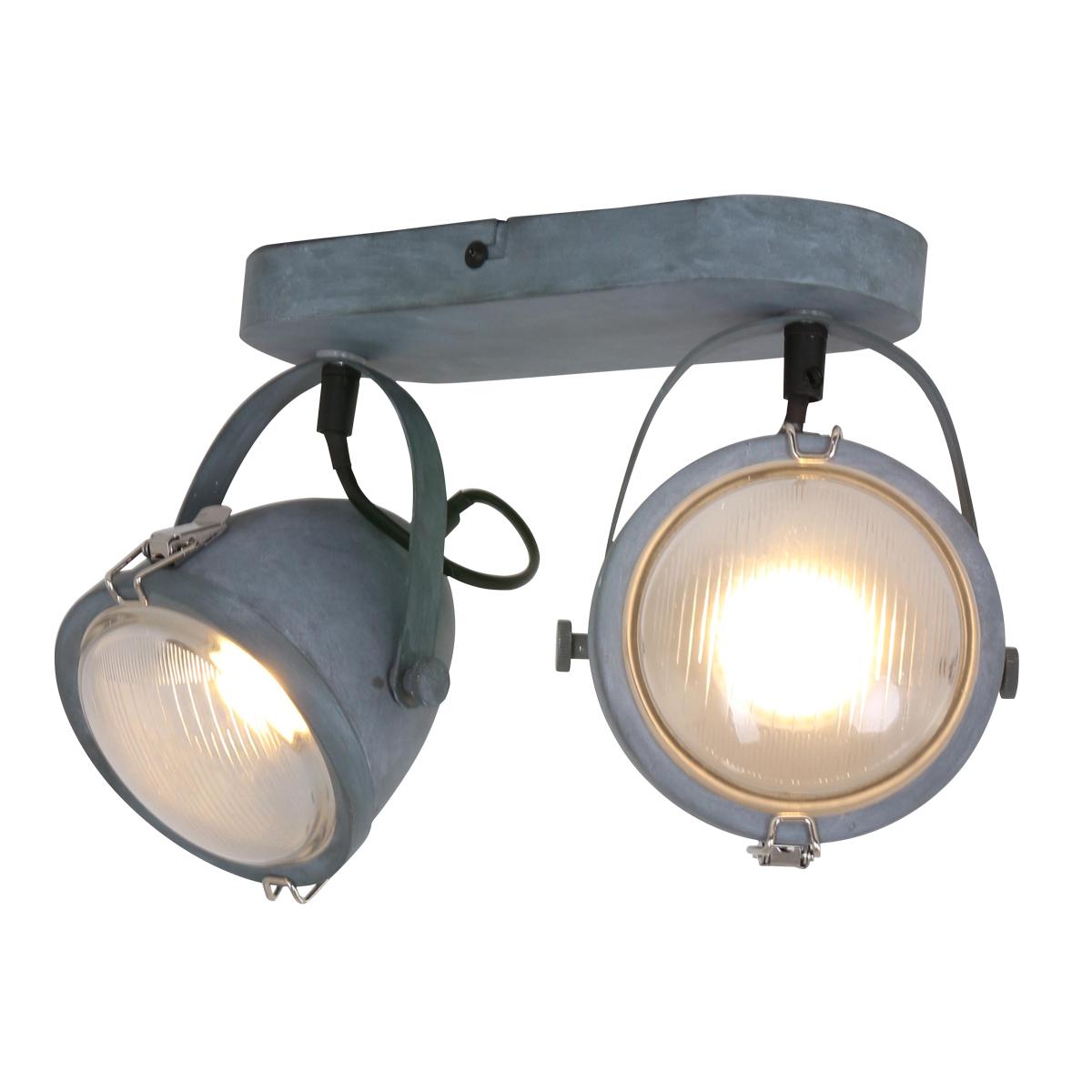 Lightning Industriele Wandlamp 2-L spot Medium Grijs