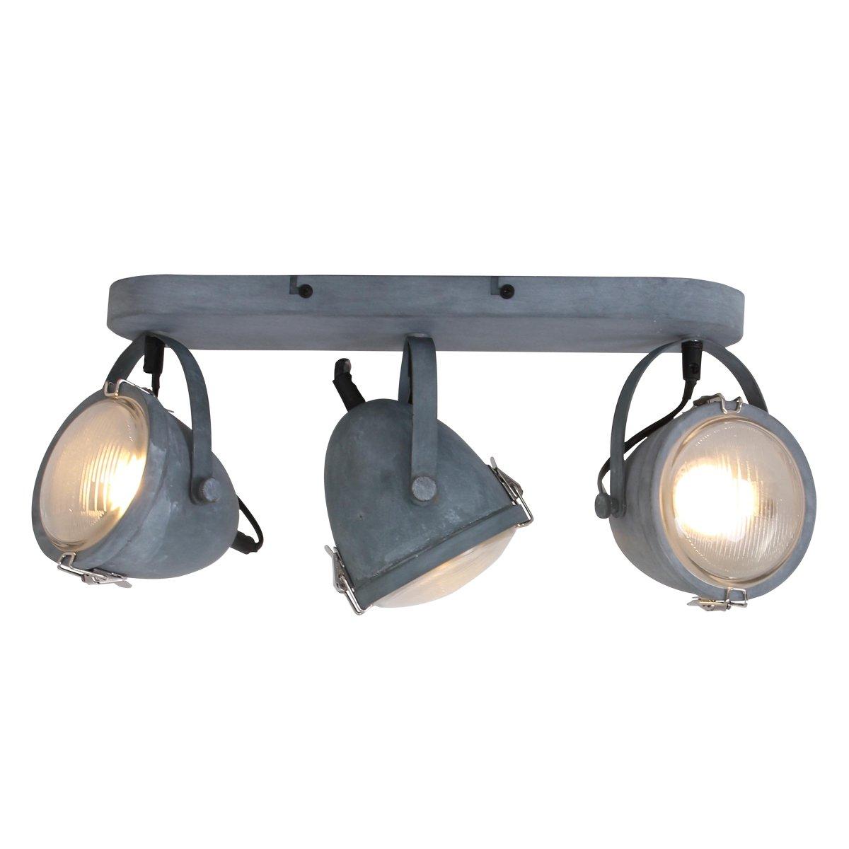Lightning Industriele Wandlamp 3-L spot Medium Grijs