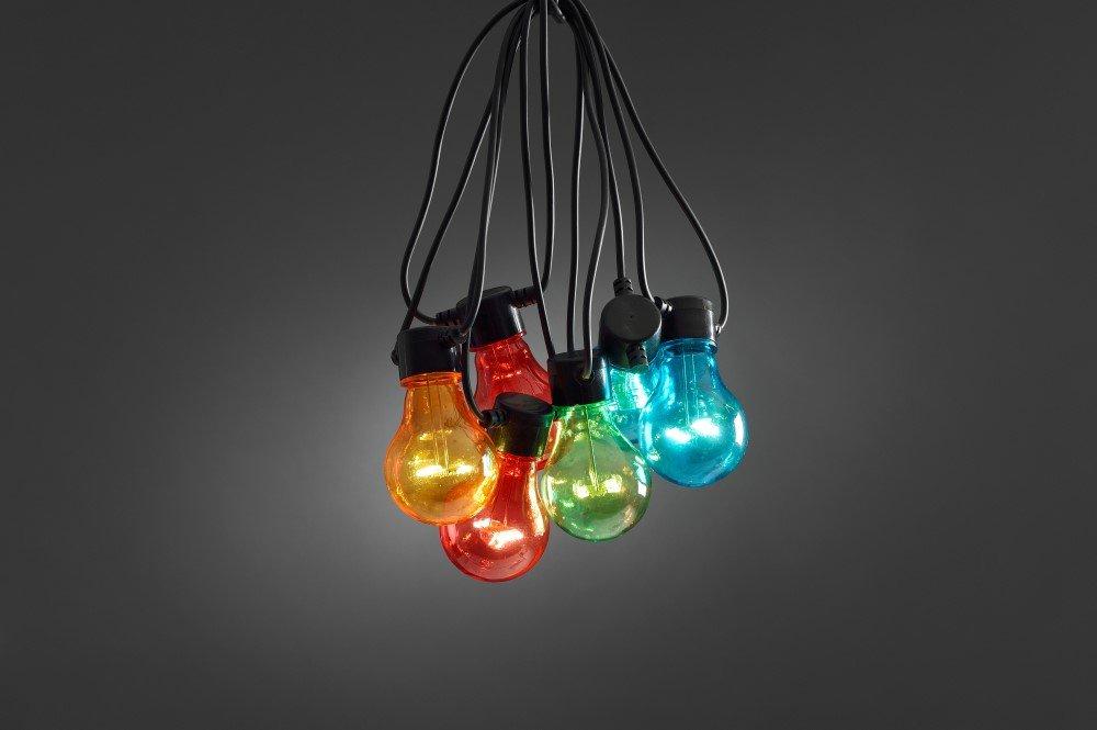 LED feestverlichting met gekleurde lampen 19.5 meter 20 lampen