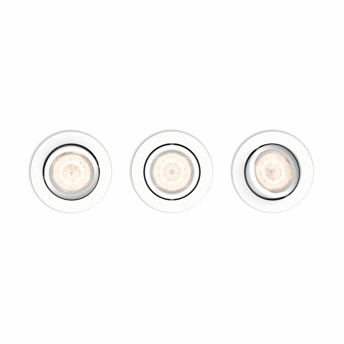 Philips Lighting Shellbark 5020331P0 LED-inbouwlamp Set van 3 13.5 W Warm-wit Wit