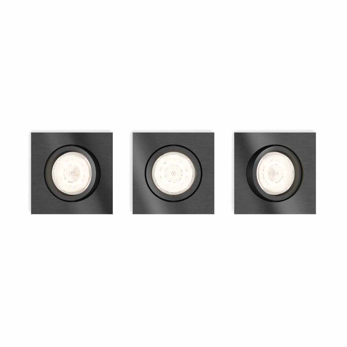 Philips Lighting Shellbark 5039399P0 LED-inbouwlamp Set van 3 13.5 W Warm-wit Antraciet