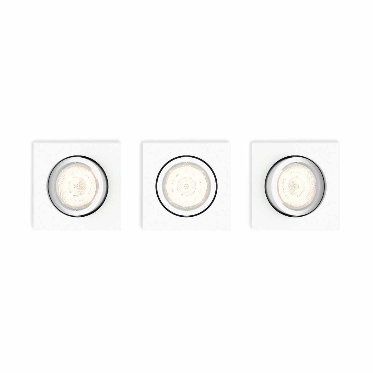 Philips Lighting Shellbark 5039331P0 LED-inbouwlamp Set van 3 13.5 W Warm-wit Wit