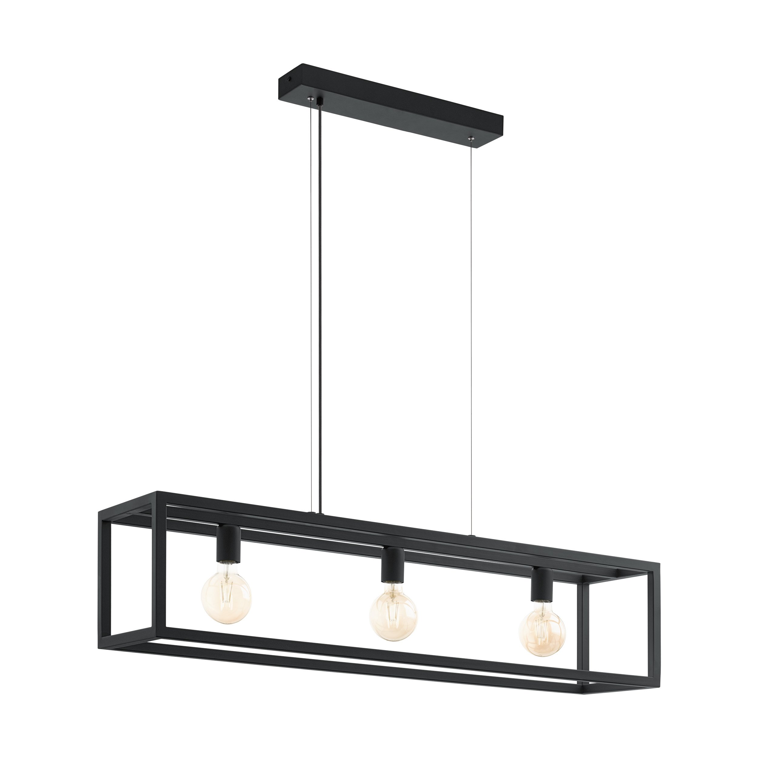 Eglo Elswick Hanglamp 3-lichts Zwart 110 cm