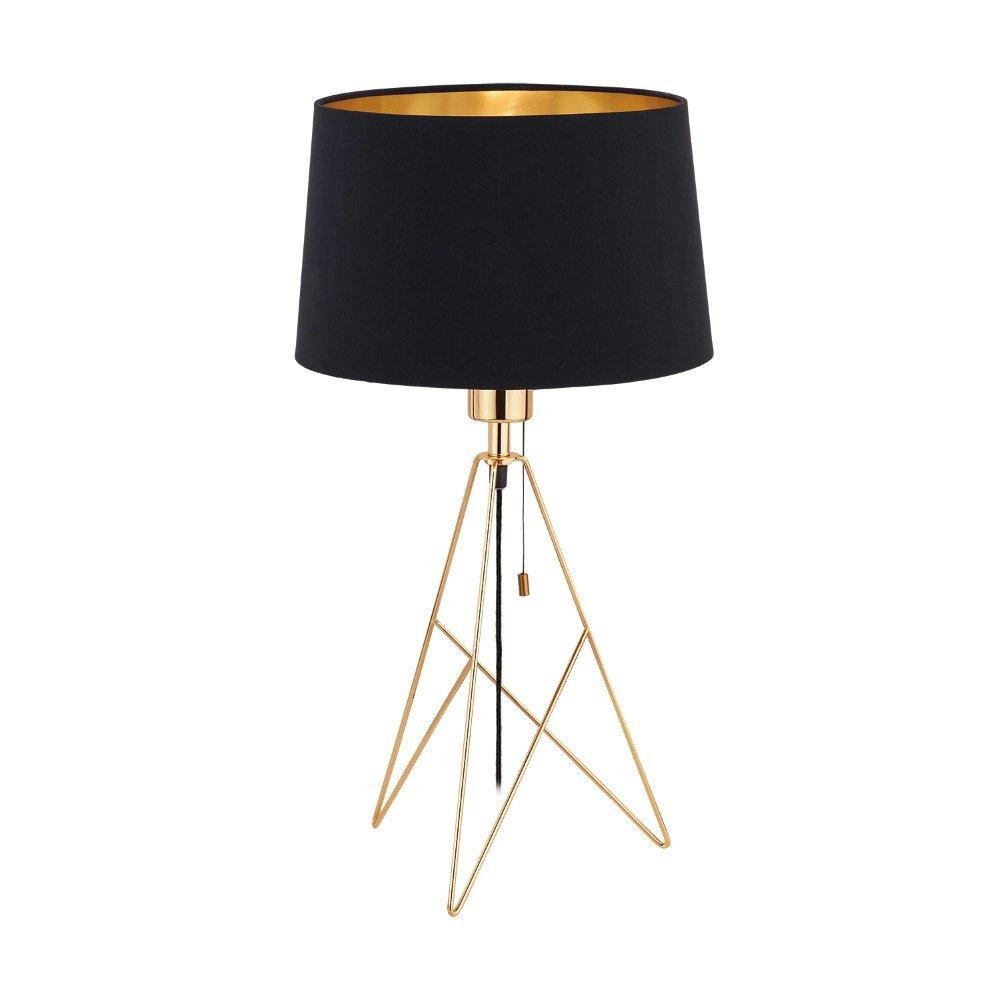 EGLO tafellamp Camporale zwart-goud
