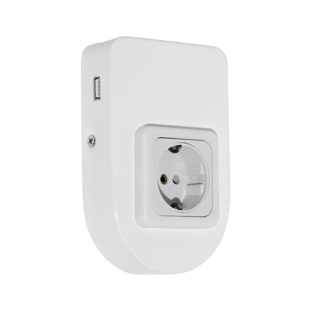Wit onderbouw stopcontact Taxano m USB aansluiting
