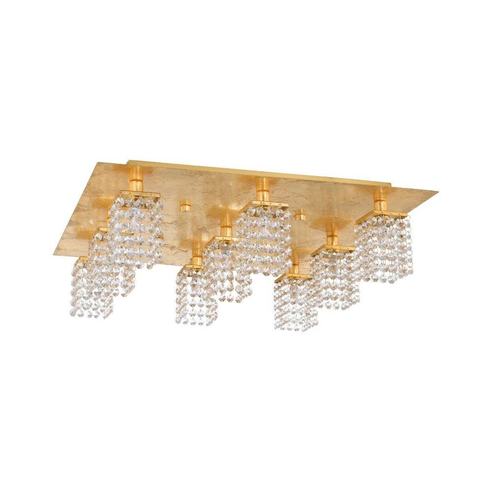 Eglo Gouden plafondlamp Pyton Gold met kristal Eglo 97722