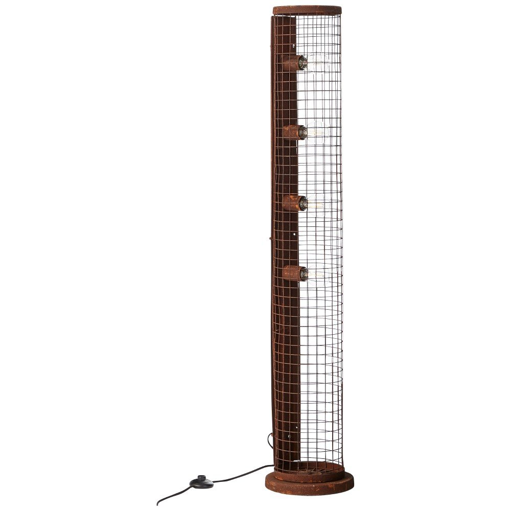 Brilliant Industriële vloerlamp Net Brilliant 93422/55