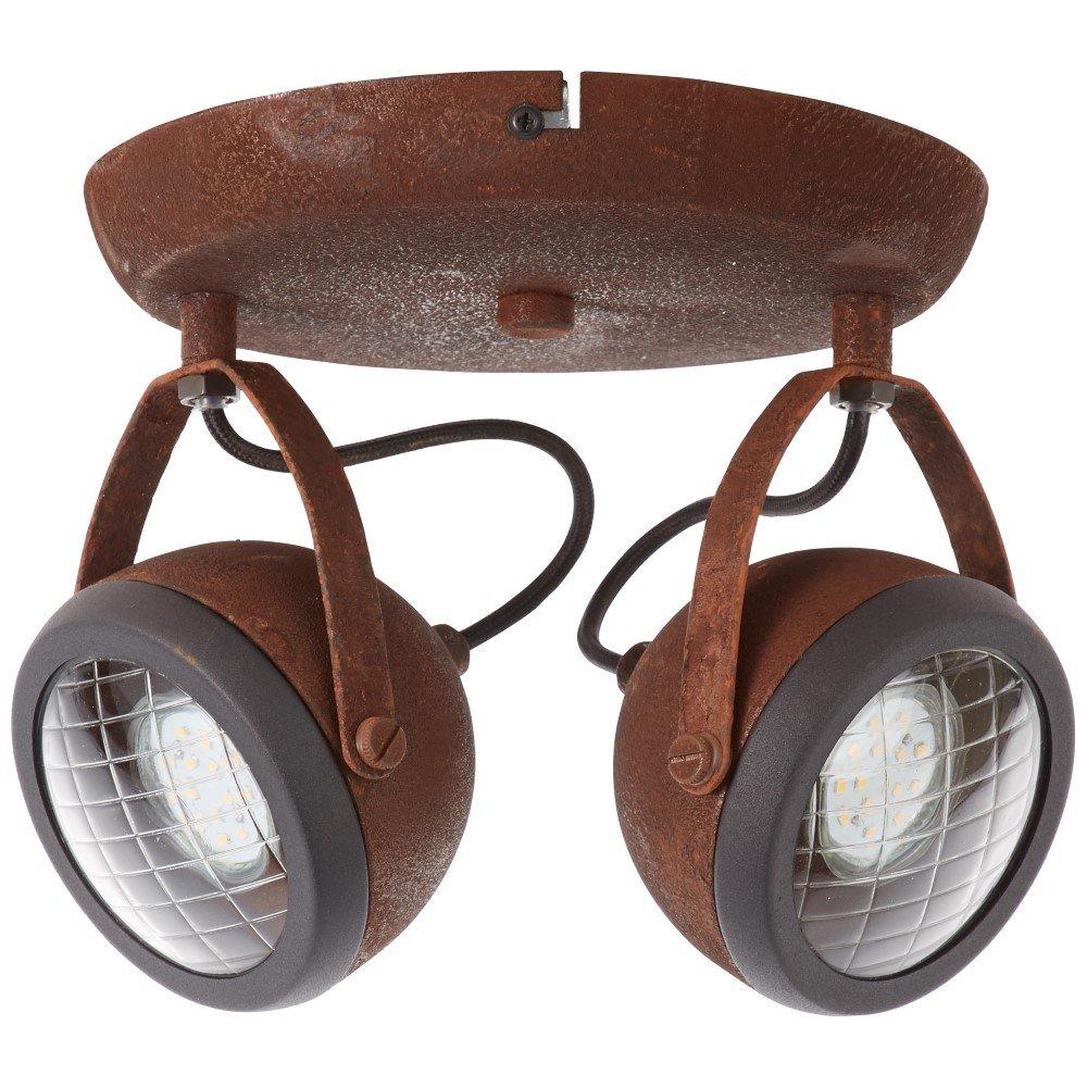Brilliant Industriële plafondspot Rider 2-lichts Brilliant 14924/55