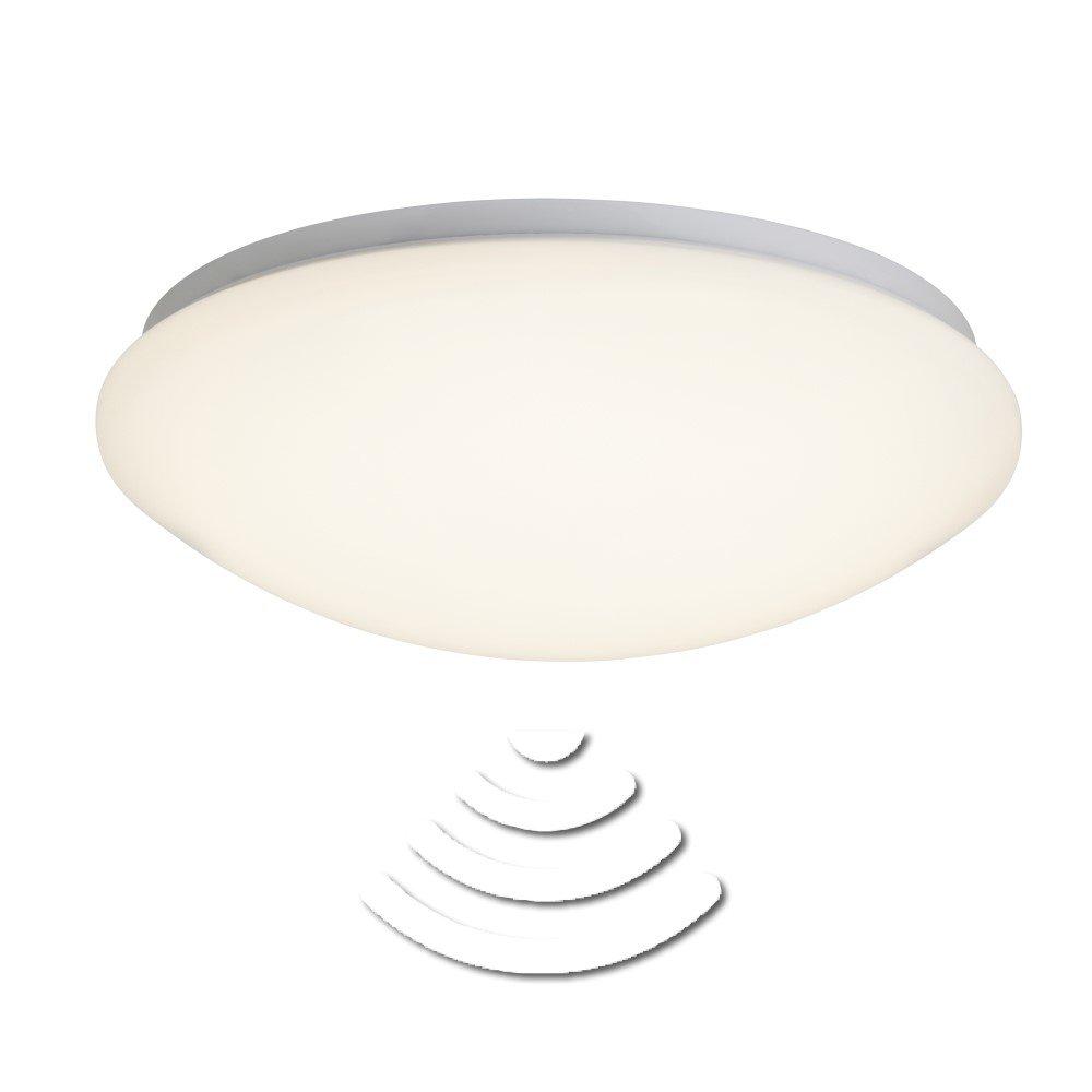 Brilliant LED plafondlamp met bewegingsmelder 12 W Warmwit Fakir G94306-05 Wit