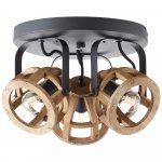 3-lichts plafondlamp Matrix Wood product photo